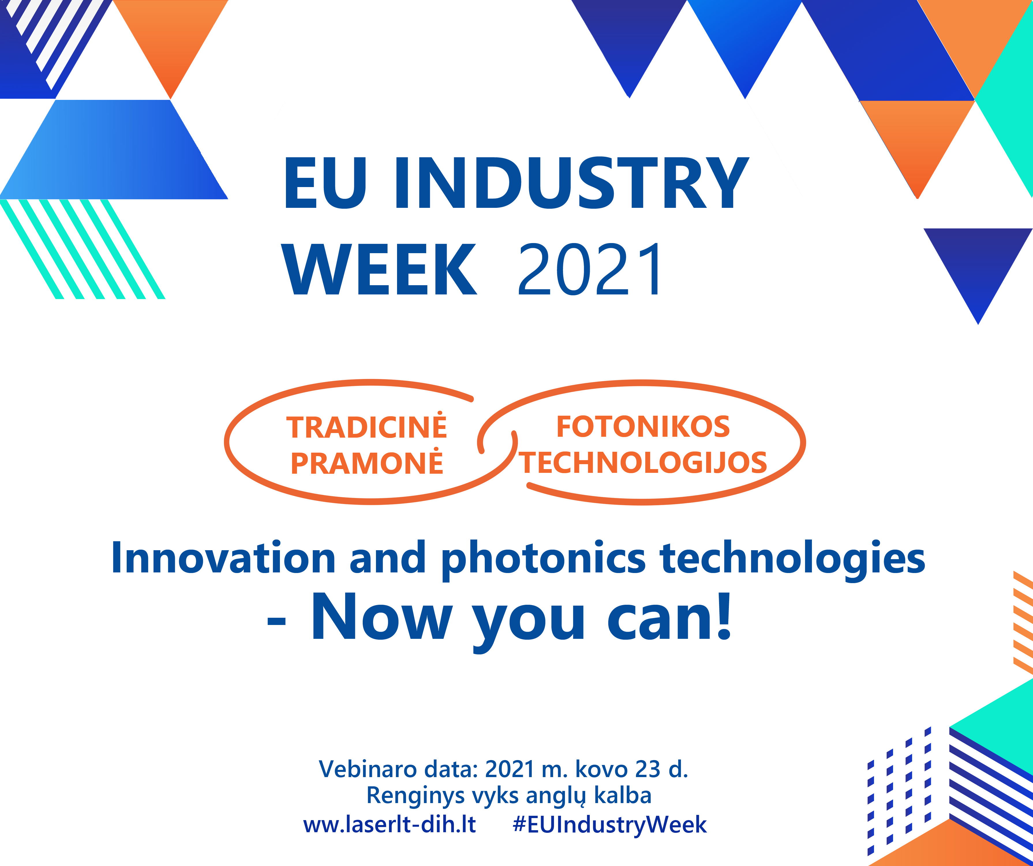 "Dalyvauk Vebinare: ""Inovation And Photonics Technology – Now You Can!"""